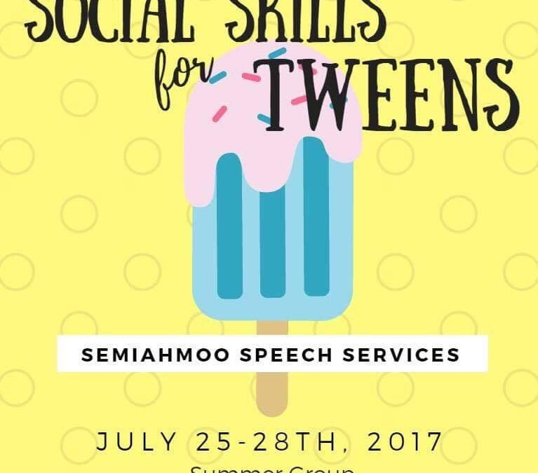New Summer Social Groups: Tweens (10-13) and kids (7-9)!
