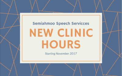 MORE SPEECH THERAPY, MORE CLINIC HOURS = MORE FUN AT SEMI SPEECH!