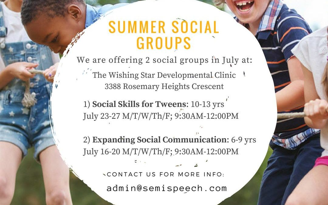 Summer Social Groups